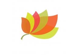 秋天彩色叶子叶片标志