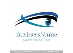 蓝色商务曲线标志图片