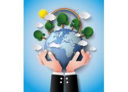 地球森林环保贴画