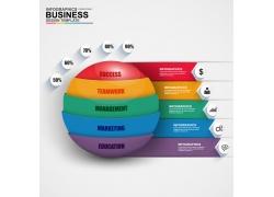 彩色纸条球信息图表