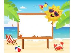 沙滩上的广告牌图片