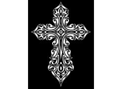 十字架花纹T恤印花