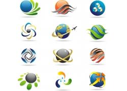 科技飞机地球标志