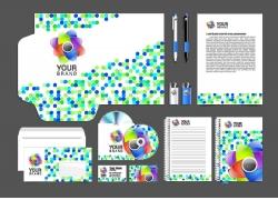 彩色圆点VI设计