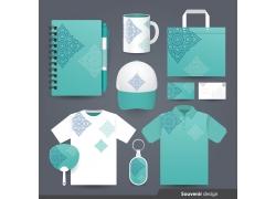 蓝色花纹vi设计