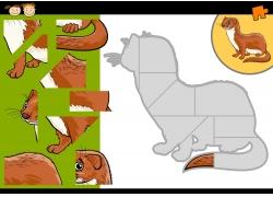 卡通竹鼠拼图图片