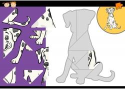 卡通小狗拼图图片