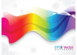 动感线条彩虹背景