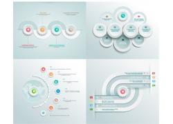 立体圆环曲线信息图表