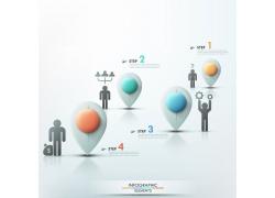 彩色立体水滴商务人物信息图表