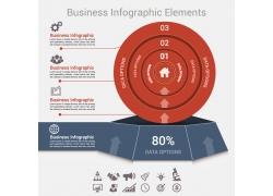 红色圆环信息图表