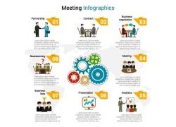 商务人物齿轮信息图表