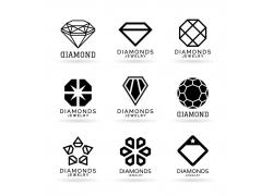 花朵形几何图形钻石标志