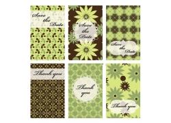 绿色花朵花纹图案