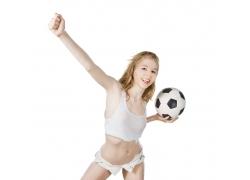 性感足球宝贝女孩图片
