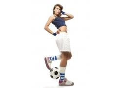 足球宝贝女孩图片