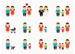 卡通幸福家庭图片
