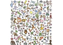 卡通矢量动物图片
