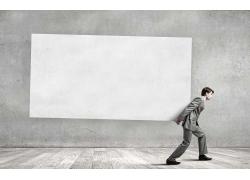 广告牌背景与职业男性