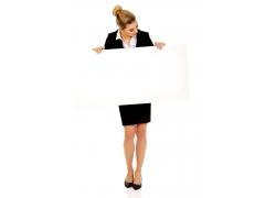 职业女性与广告牌