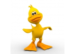 3D卡通鸭子