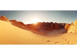 沙漠峡谷风景
