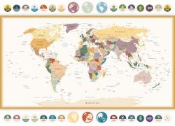 复古风世界地图图片