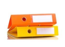橙色与黄色文件夹