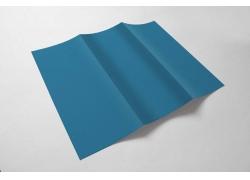 蓝色折页设计图片