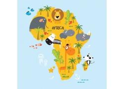 非洲动物插画图片