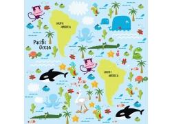 南美洲动物插画图片