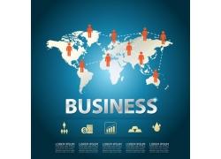 世界地图商务信息图表