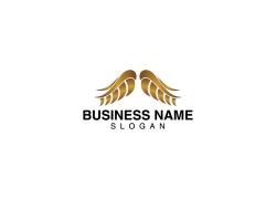 金色翅膀logo设计