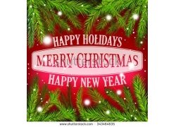2016新年圣诞节海报背景
