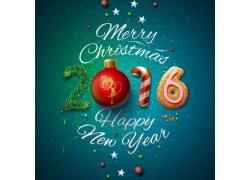 圣诞球2016新年字体