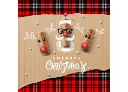 圣诞节海报格子背景
