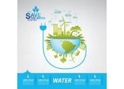 绿色生态环保漫画图片