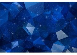 蓝色星光多边形背景