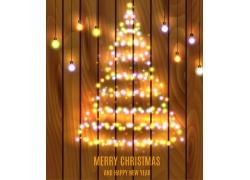 2016圣诞节海报木板背景