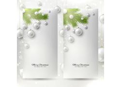 白色圣诞球背景
