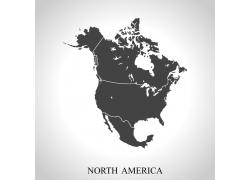 北美洲地图图片