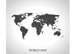 黑色世界地图图片
