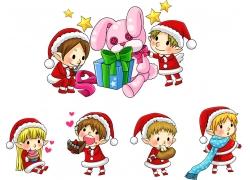 圣诞节卡通儿童图片