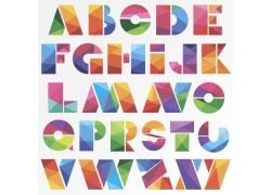 创意三角形字母艺术字