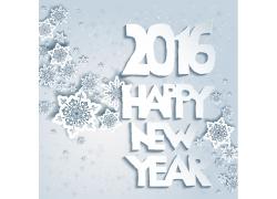 2016圣诞节海报雪花背景