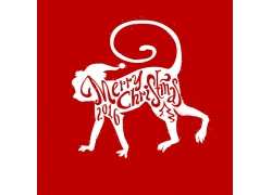 猴年圣诞节海报