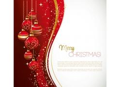 圣诞球背景边框
