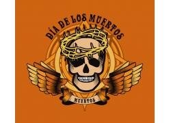 骷髅翅膀logo设计