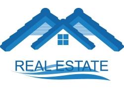蓝色房屋地产标志