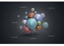 彩色数字球信息图表